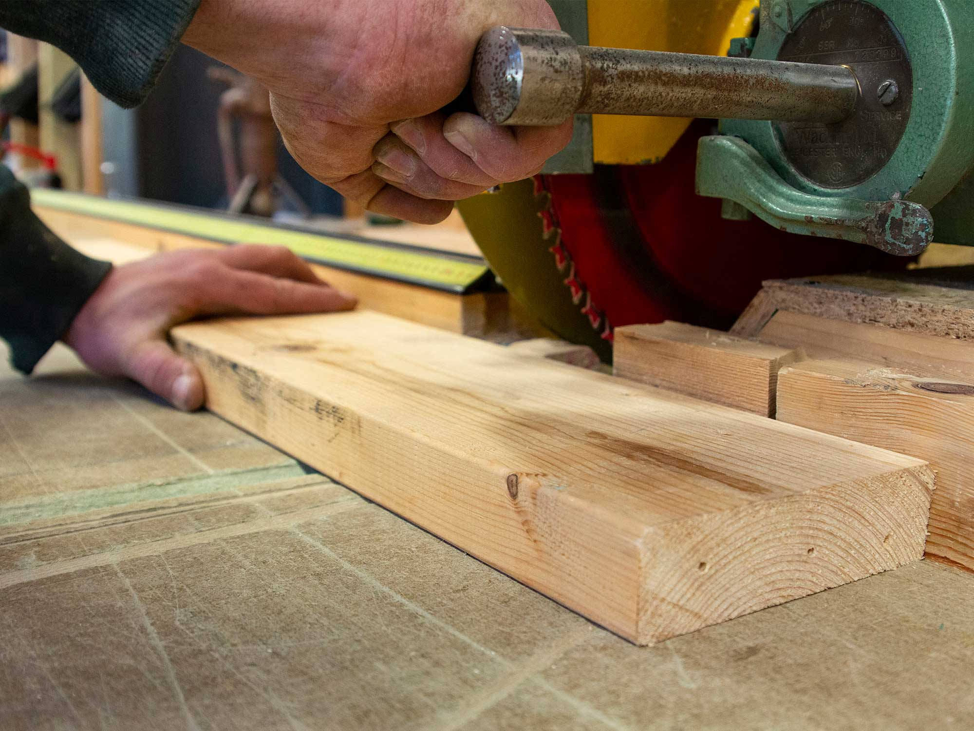 Cutting timber for low energy and high performance buildings