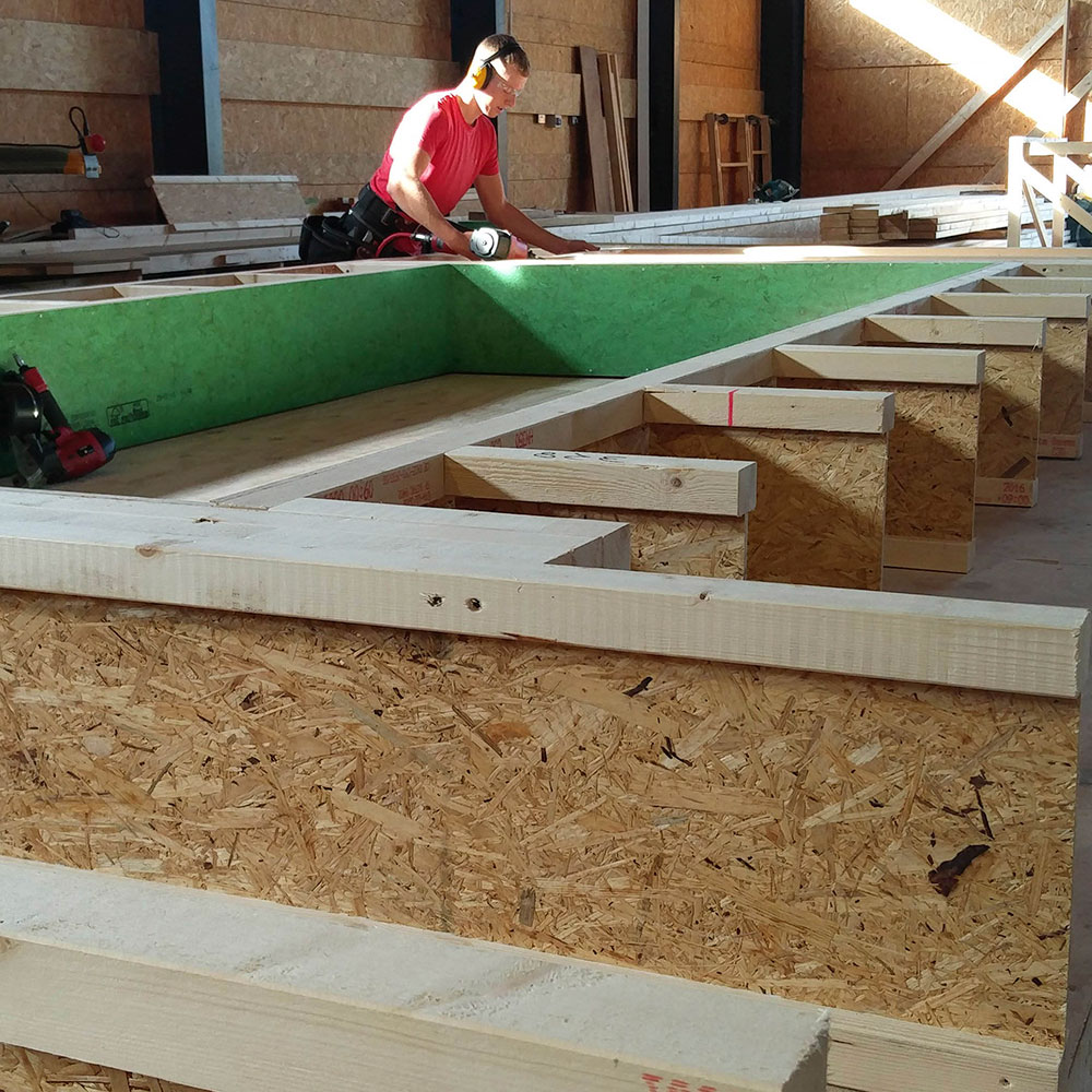 Offsite manufacture of low energy timber frame buildings
