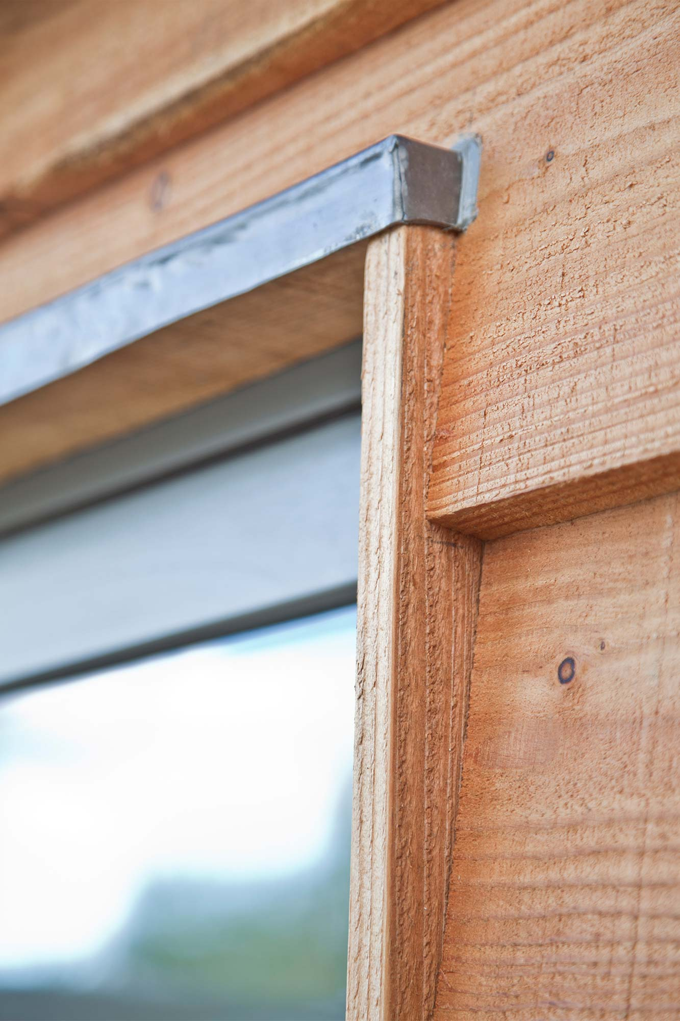 Timber cladding and window detail