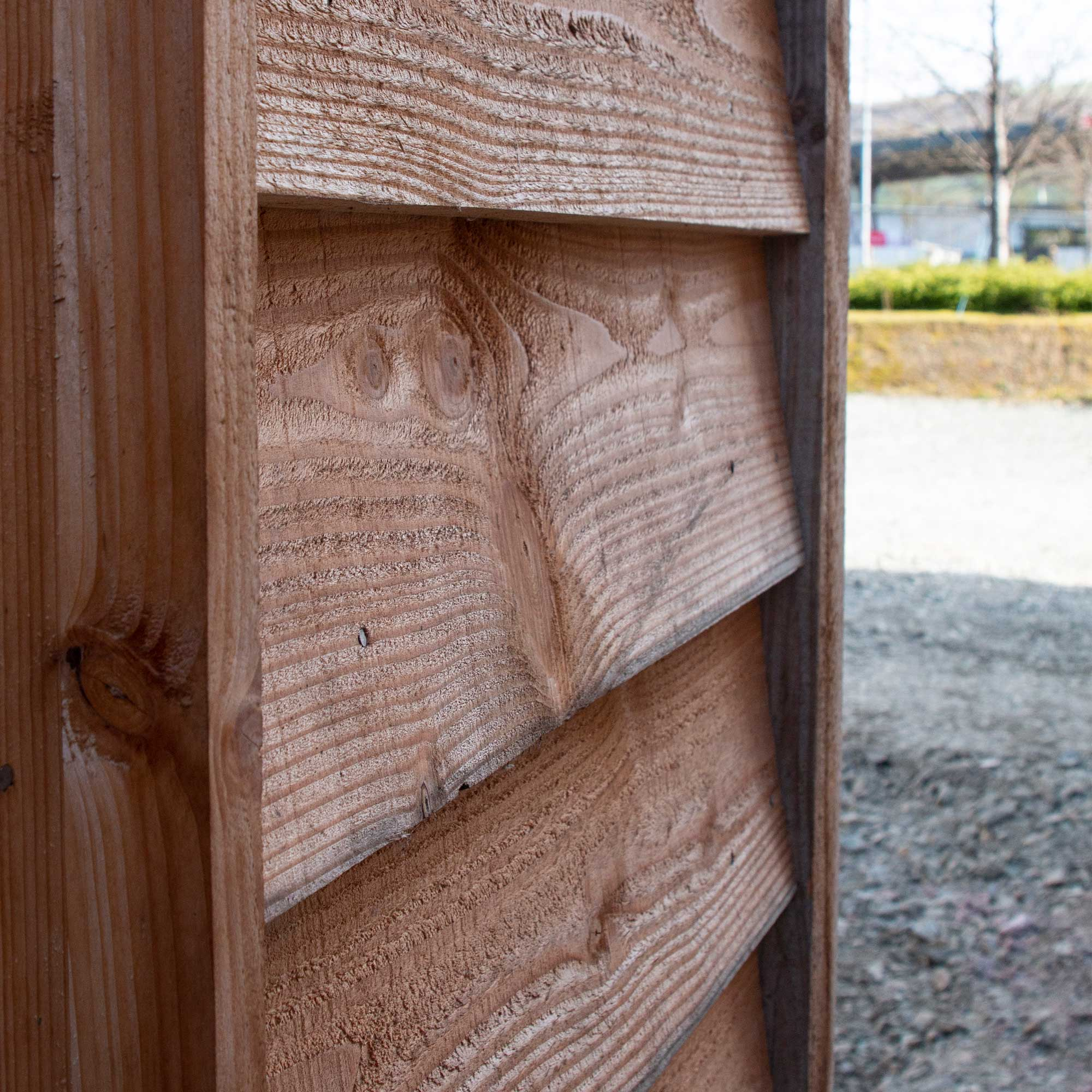 Welsh timber cladding detail on Passivhaus office